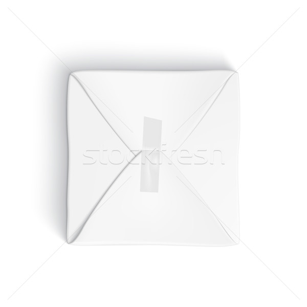 Realistic template of parcel wrapped up with white paper Stock photo © Mediaseller