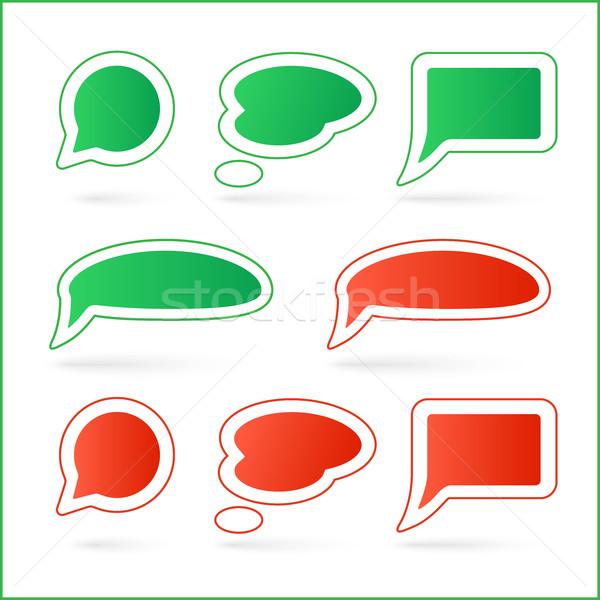 Vector speech bubbles Stock photo © Mediaseller