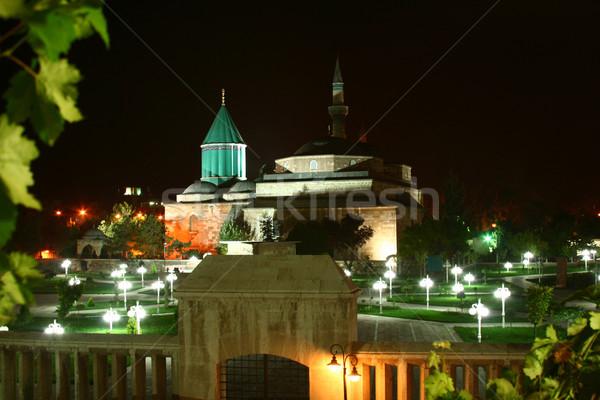 Museum licht nacht wolk outdoor selectieve aandacht Stockfoto © mehmetcan