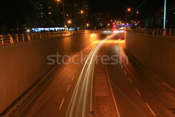 Licht effect auto lichten snelweg Stockfoto © mehmetcan