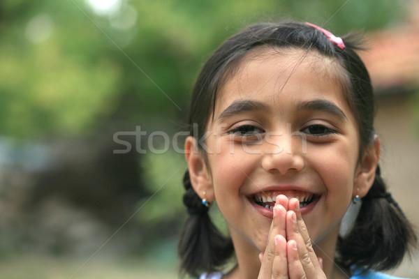 Voorjaar gras meisjes leuk portret Stockfoto © mehmetcan