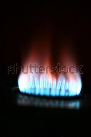 Kraftstoff Macht Generation Erdgas innerhalb blau Stock foto © mehmetcan