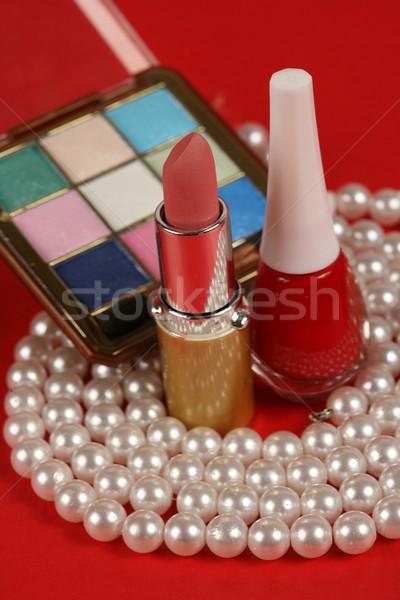 Make kleur vrouwelijke witte roze mooie Stockfoto © mehmetcan