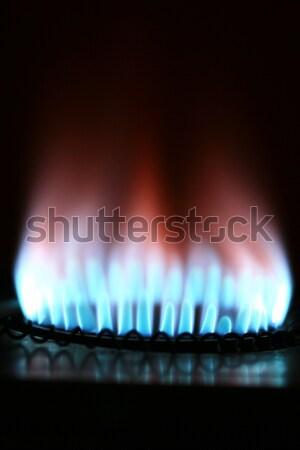 топлива власти поколение Природный газ внутри синий Сток-фото © mehmetcan