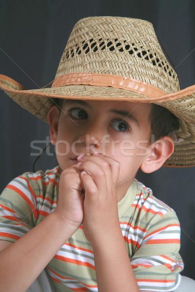 Weinig jongens licht portret land vreugde Stockfoto © mehmetcan