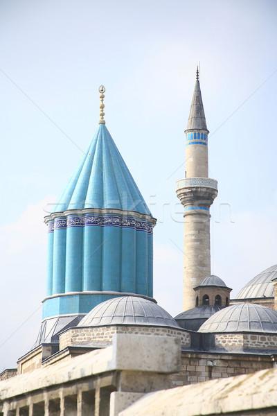 Museum moskee hemel gebouw Blauw architectuur Stockfoto © mehmetcan