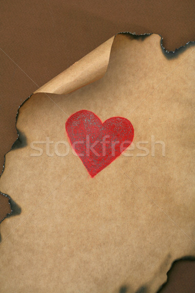 Valentijnsdag hart oud papier foto papier abstract Stockfoto © mehmetcan
