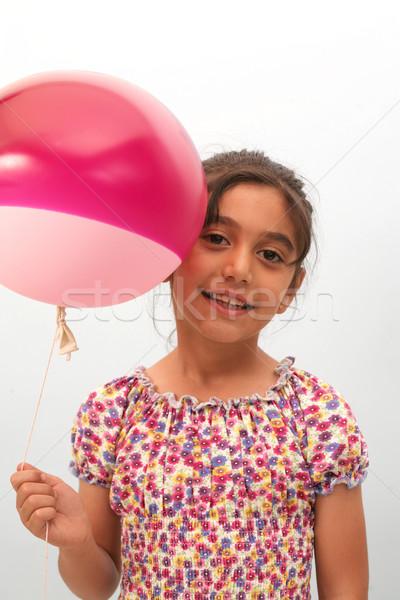 Glimlach gezicht model haren gezondheid Stockfoto © mehmetcan