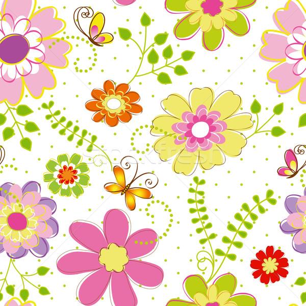 Printemps coloré fleur résumé vert Photo stock © meikis