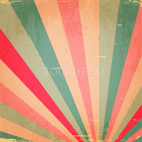 Soyut renkli grunge rays duvar kağıdı yeşil Stok fotoğraf © meikis