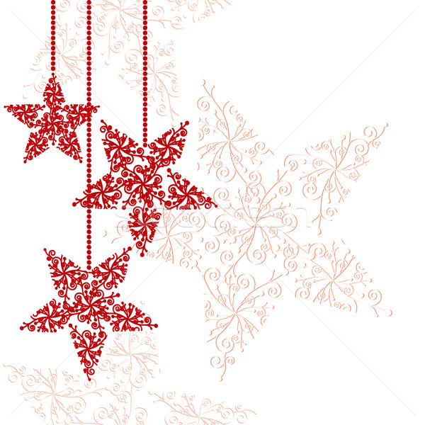 Abstract Rood christmas star gelukkig licht Stockfoto © meikis