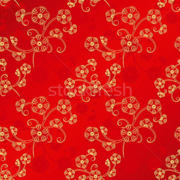 Oriental Chinese New Year seamless pattern Stock photo © meikis