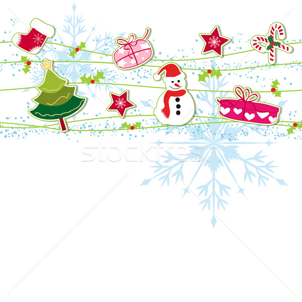 Noël ornement carte de vœux fleur résumé fond Photo stock © meikis