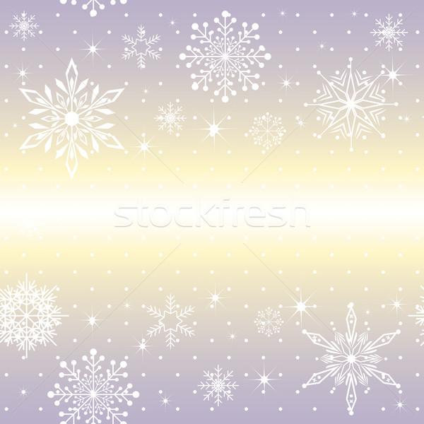 Noël flocon de neige pourpre star fond Photo stock © meikis