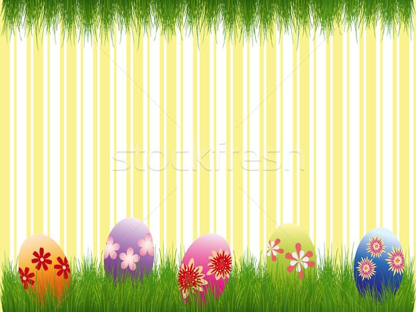 Résumé Pâques vacances carte de vœux printemps oeuf Photo stock © meikis
