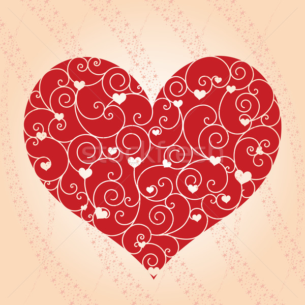 Abstract Valentine day greeting card  Stock photo © meikis