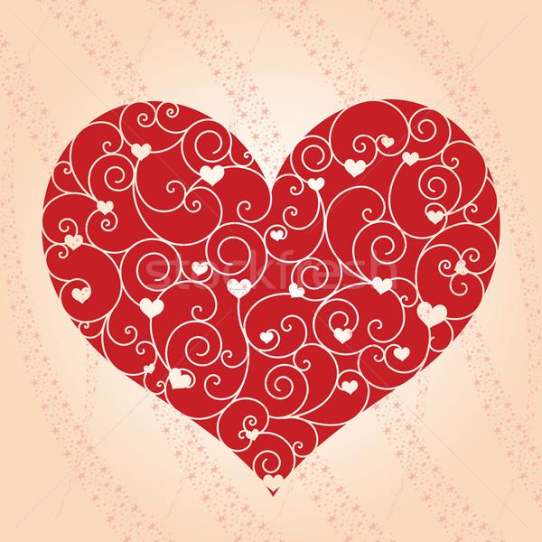 抽象的な バレンタイン 日 グリーティングカード 結婚式 愛 ストックフォト © meikis