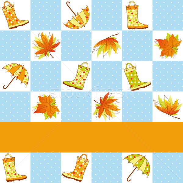Coloré automne pluie arbre papillon Photo stock © meikis