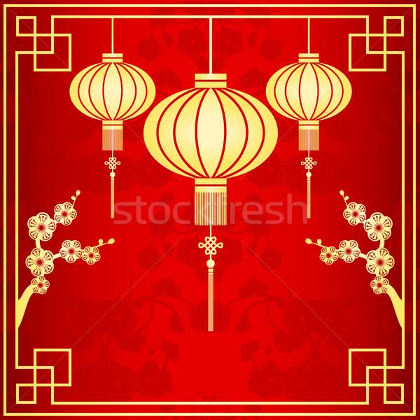 Oriental Chinese Lantern Illustration Stock photo © meikis