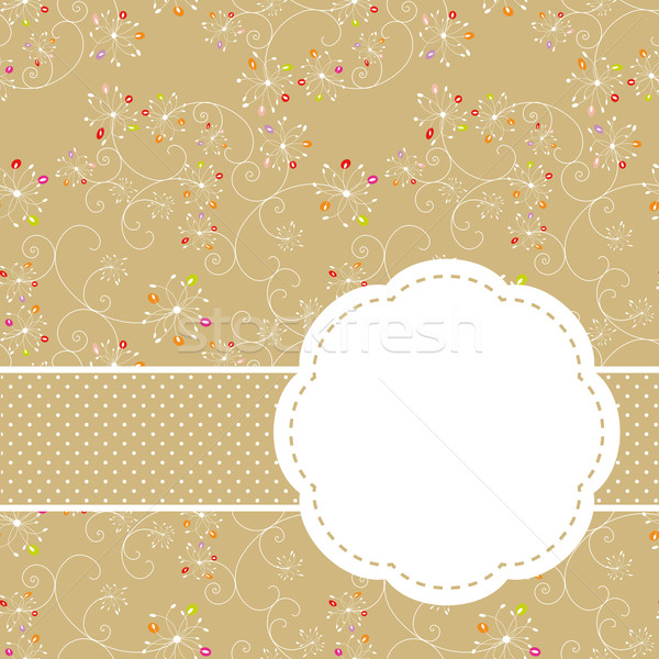 Stock photo: Springtime colorful floral seamless pattern greeting card