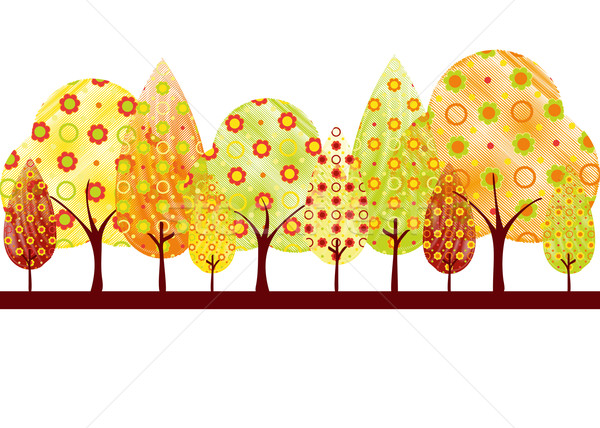 Stock photo: Abstract colorful autumn tree background