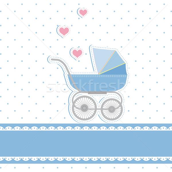Stok fotoğraf: Yeni · bebek · erkek · duş · kalp