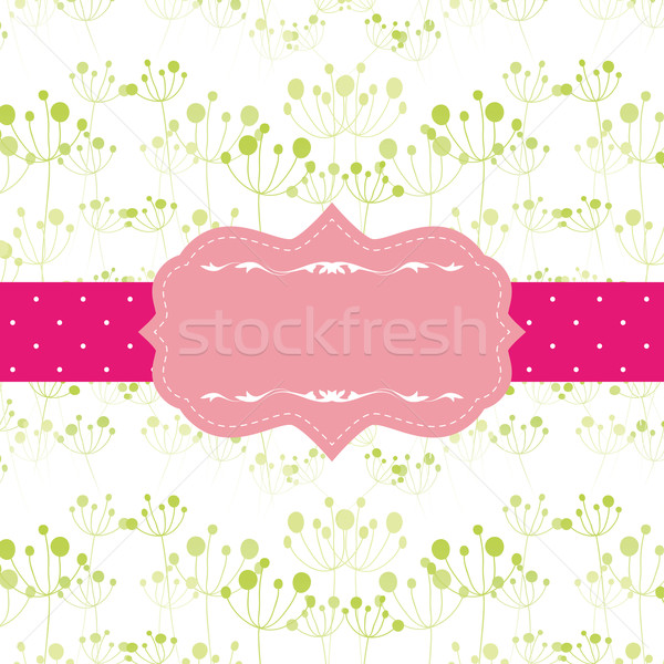 Abstract seamless pattern background with ornate frame Stock photo © meikis