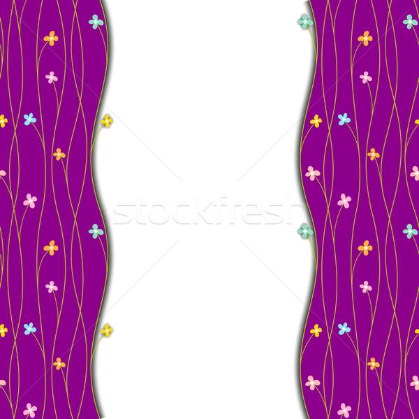 Photo stock: Printemps · coloré · fleur · blanche · pourpre · printemps