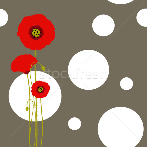 Abstract rosso papavero wallpaper primavera design Foto d'archivio © meikis
