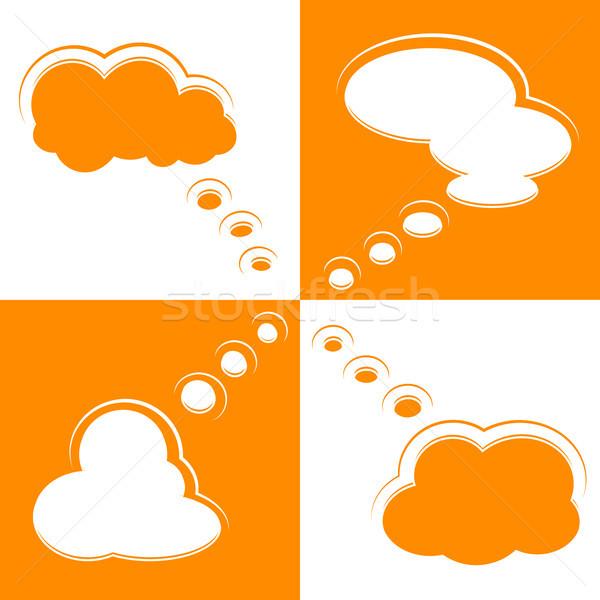 Ayarlamak bulut biçim soyut imzalamak Stok fotoğraf © meikis