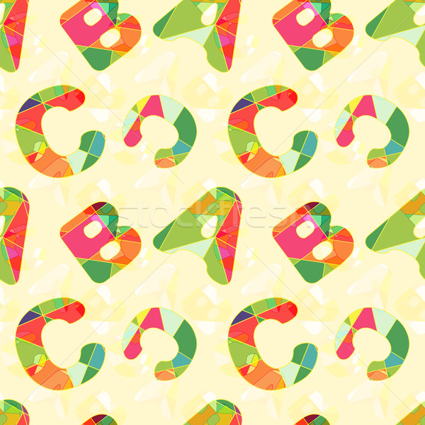 Colorful ABC Seamless Pattern Background Stock photo © meikis