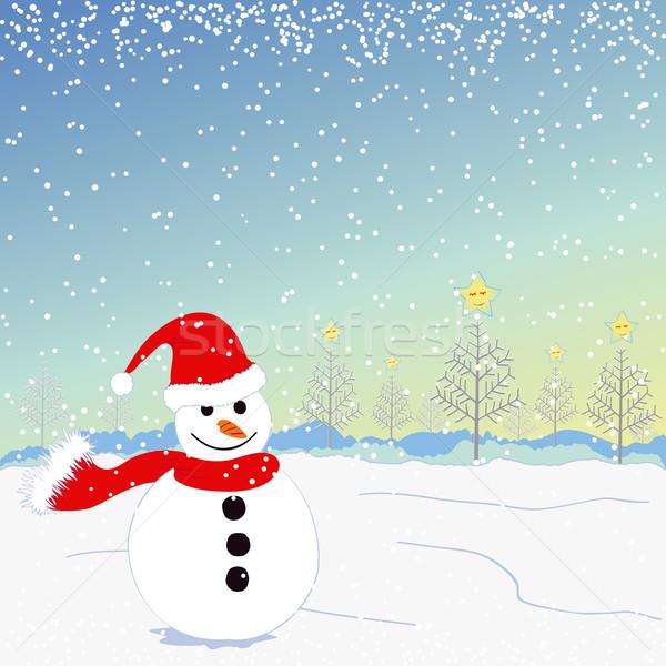 Stok fotoğraf: Noel · tebrik · gülümseme · dizayn · kış · mavi