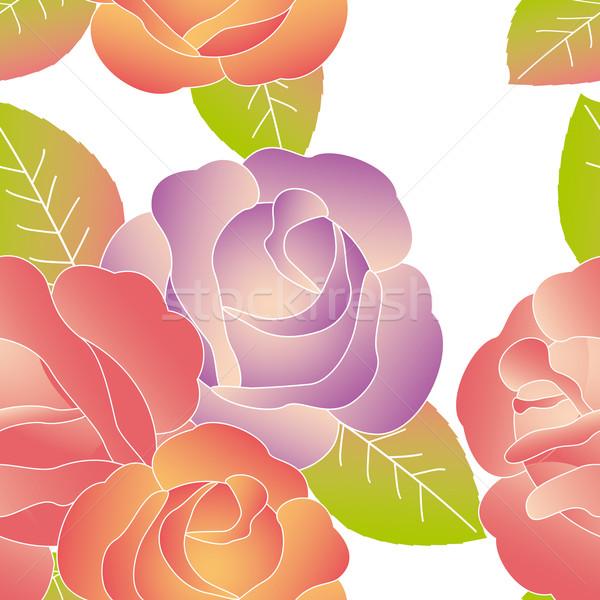 Résumé fleur printemps design Photo stock © meikis