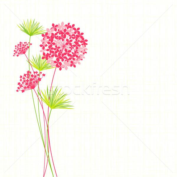 Photo stock: Printemps · fleur · vert · fond · blanche · rose