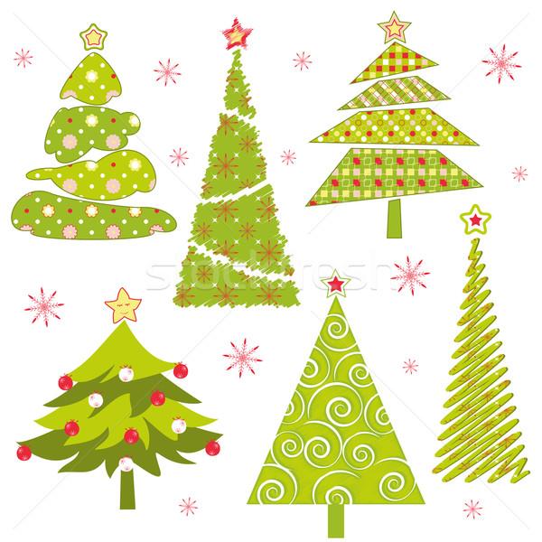 Arbre de noël résumé coloré Noël arbres Photo stock © meikis