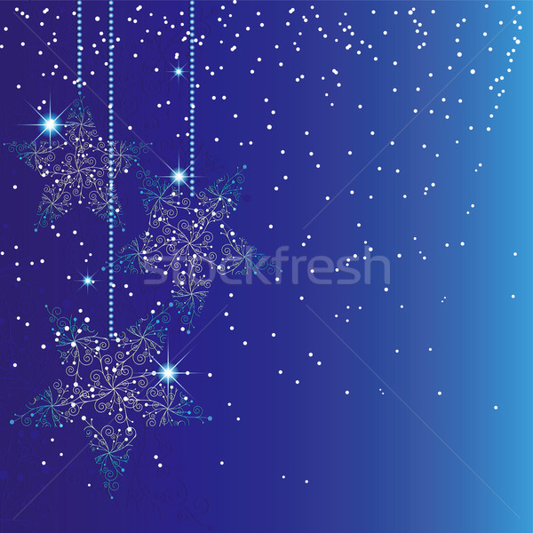 Abstract sparkle blue christmas background Stock photo © meikis