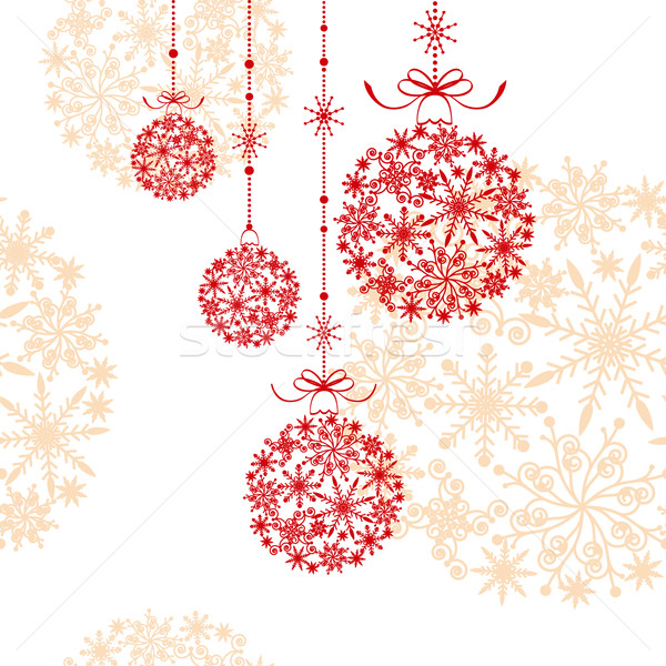 Abstract Christmas greeting card wallpaper Stock photo © meikis