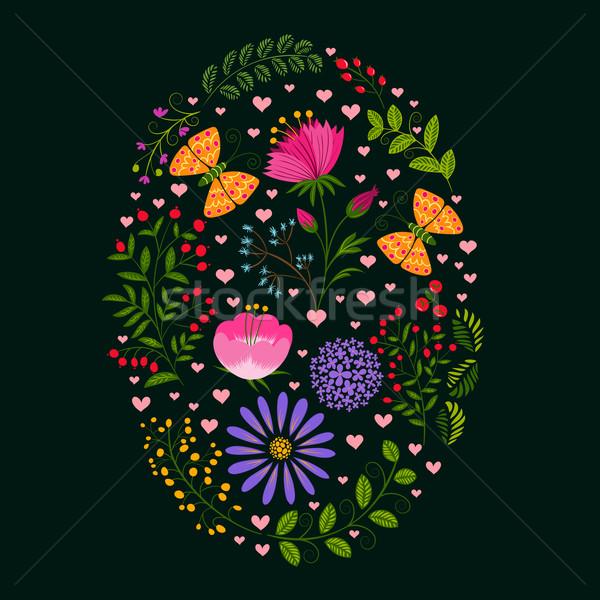 Printemps Pâques vacances coloré fleur nature Photo stock © meikis
