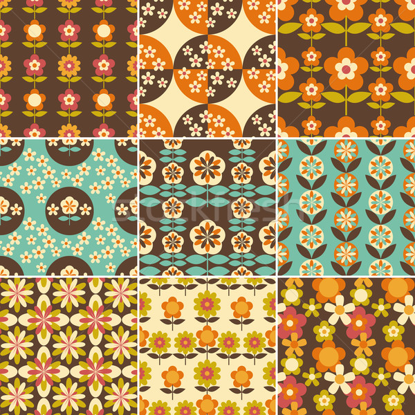Set 70s design wallpaper Foto d'archivio © meikis