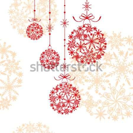Natal floco de neve branco papel de parede flor abstrato Foto stock © meikis