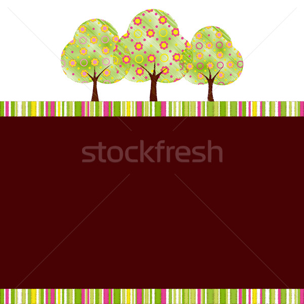 Abstract springtime tree with colorful flower Stock photo © meikis