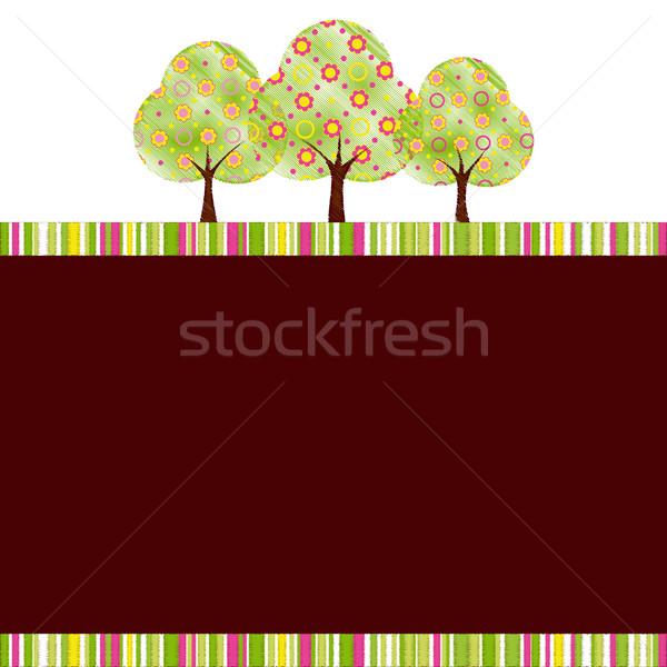 аннотация весна дерево красочный цветок лес Сток-фото © meikis