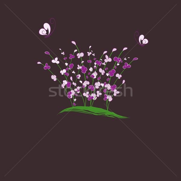 été papillon carte de vœux fleur printemps Photo stock © meikis