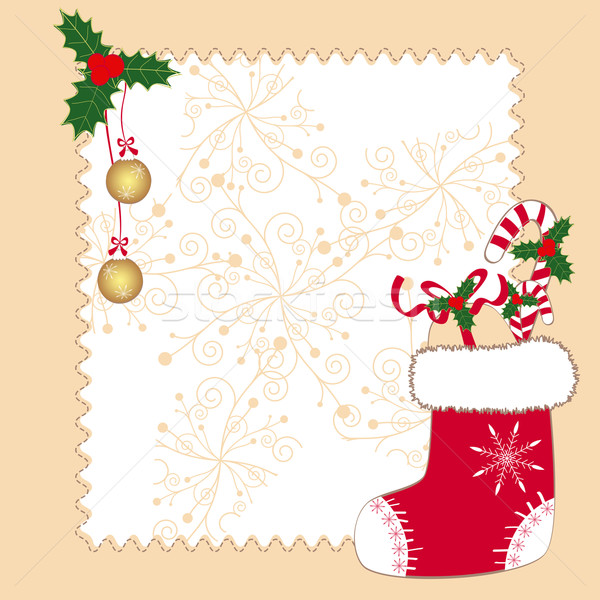 Noël ornements carte de vœux nature lumière design Photo stock © meikis