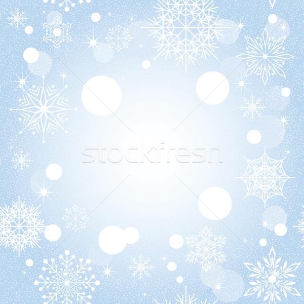Noël flocon de neige bleu star fond Photo stock © meikis