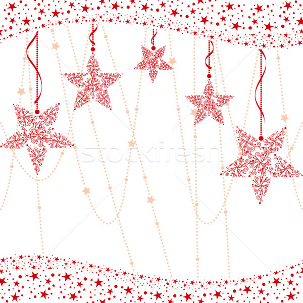 Résumé rouge Noël star heureux design Photo stock © meikis