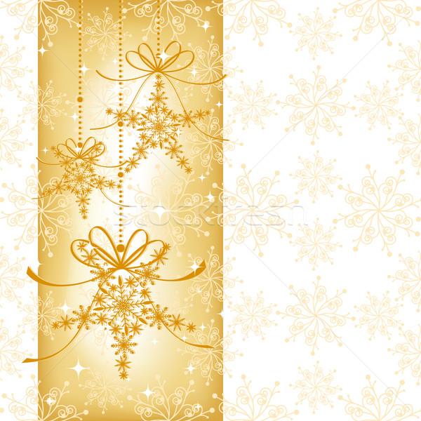 Foto stock: Natal · cartão · floco · de · neve · arte