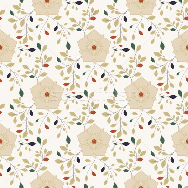 Coloré fleur résumé vert Photo stock © meikis