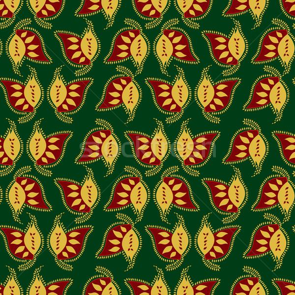 Foto stock: Colorido · indio · estilo · verde · flor