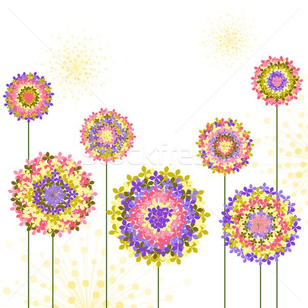 Bahar renkli çiçek bahar arka plan yeşil Stok fotoğraf © meikis